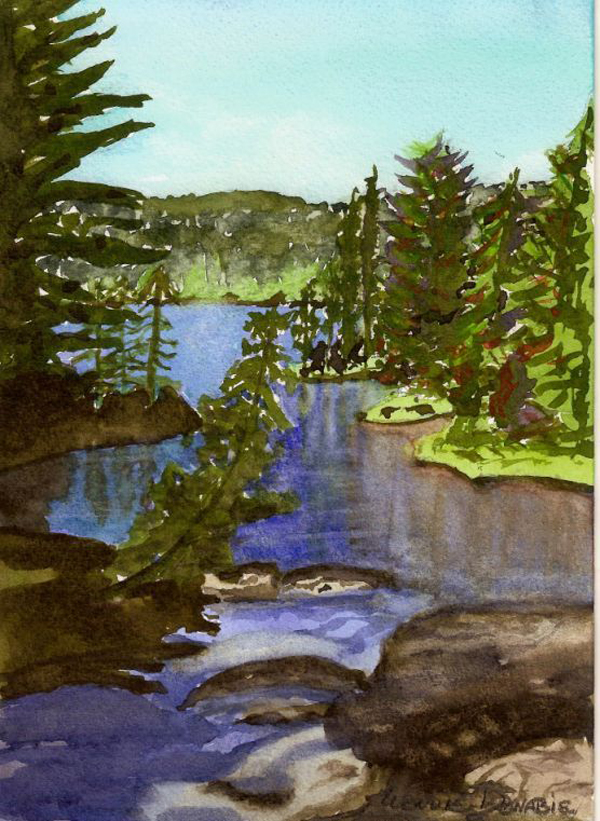 Escape to Muskoka - Watercolour, 10x8, 2011 $100