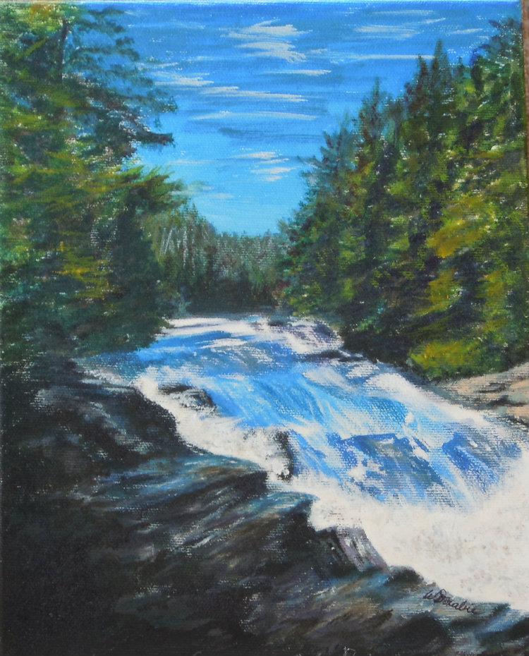 2013-15 Wilson Falls, Acrylic, 8 x 10 Copyright Wendie Donabie 2013