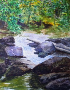 3616 - Beaver Creekon Covered Bridge Trail, Watercolour on paper, 10 x8 Copyright Wendie Donabie