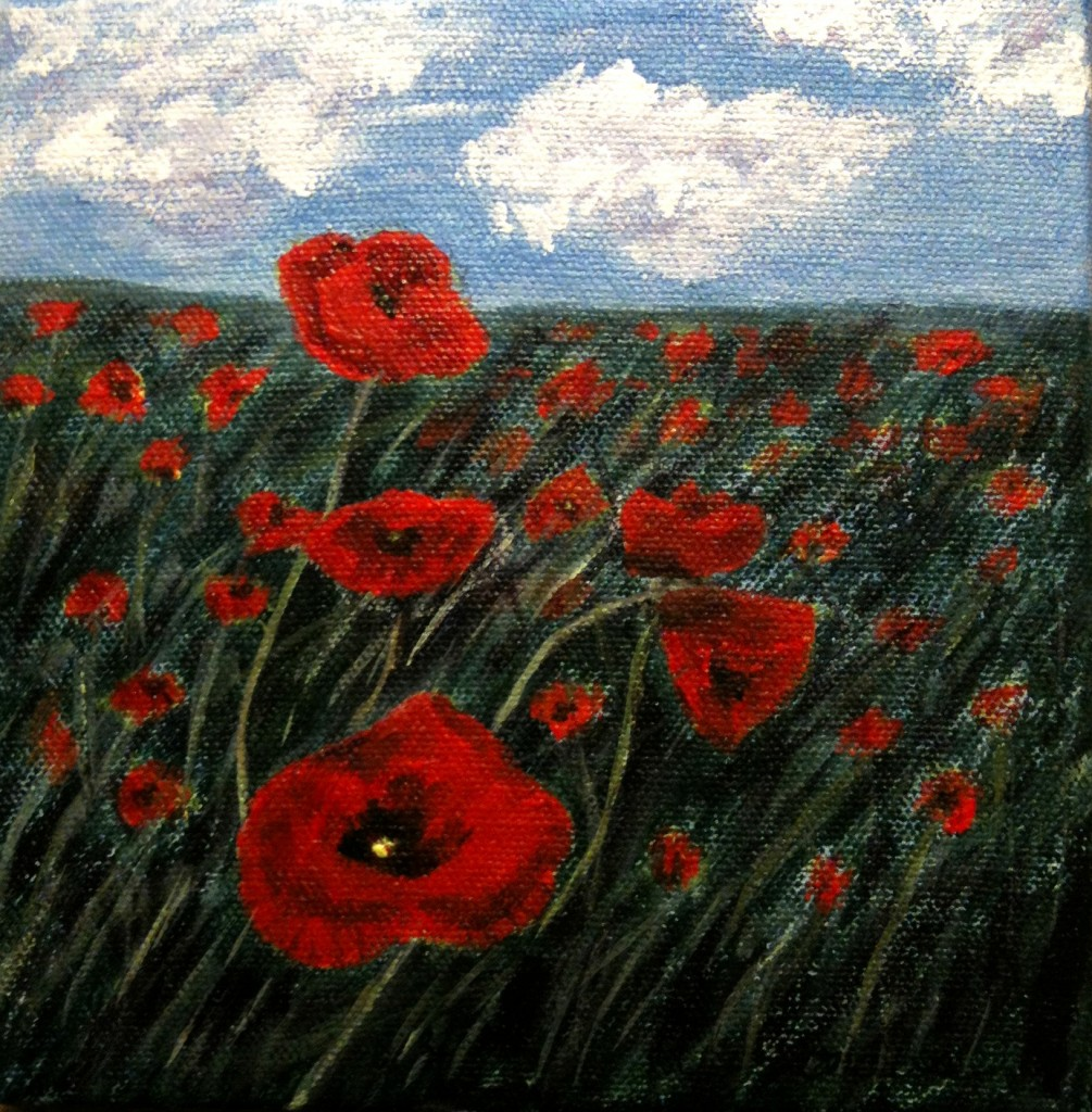 2013-39 Remember, Acrylic on Canvas, 6x6 ins, Copyright Wendie Donabie 2013