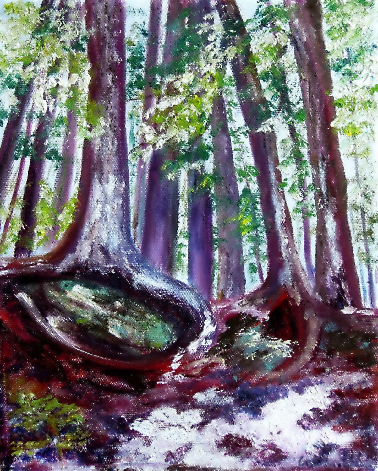 3637 - Firmly Rooted Series - Enchantment #1, Oil on Canvas, 10 x 8 Copyright Wendie Donabie