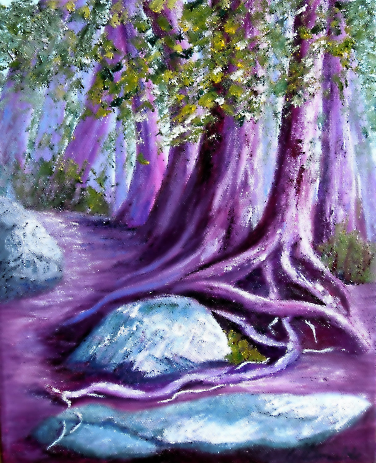 3638 - Firmly Rooted - Enchantment #2, Oil on Canvas, 10 x 8 inches, Copyright Wendie Donabie