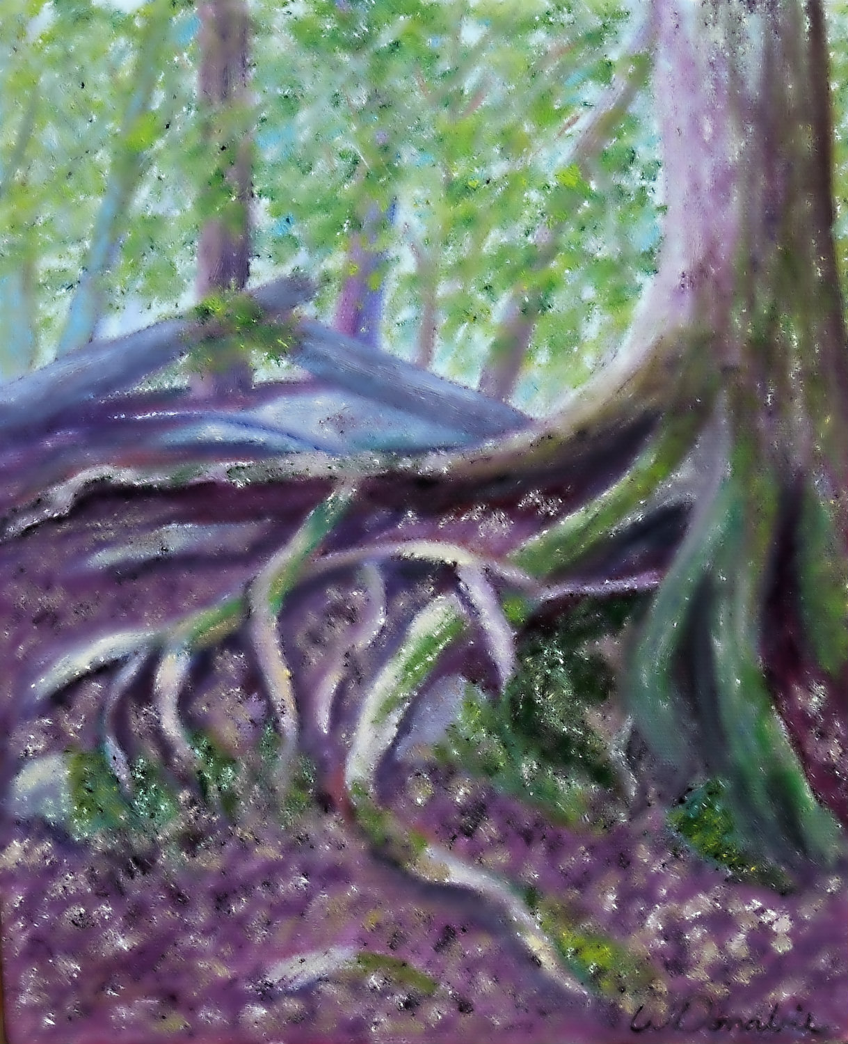 3639 - Firmly Rooted - Enchantment #3, Oil on Canvas, 10 x 8 inches, Copyright Wendie Donabie