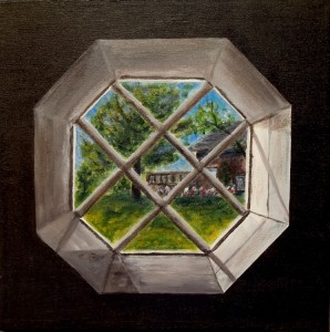 3669 - View from Window #2, Acrylic on Canvas, 12 x 12 inches, Copyright Wendie Donabie