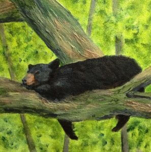 3720 - Perfect Place for a Nap, Acrylic on Canvas, 6 x 6 inches, Copyright Wendie Donabie