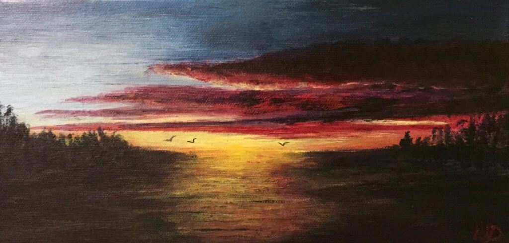 3735 - Sailor's Delight, Acrylic on Canvas, 6 x 12 inches, Copyright Wendie Donabie