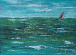 3736 - Perfect Day for a Sail, Acrylic on Canvas, 5 x 7 inches, Copyright Wendie Donabie